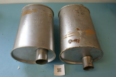 1975-1979 Corvette C3 Mufflers Pair, Used Fair
